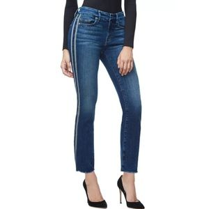 Good American Good Waist Athletic Straight Jeans